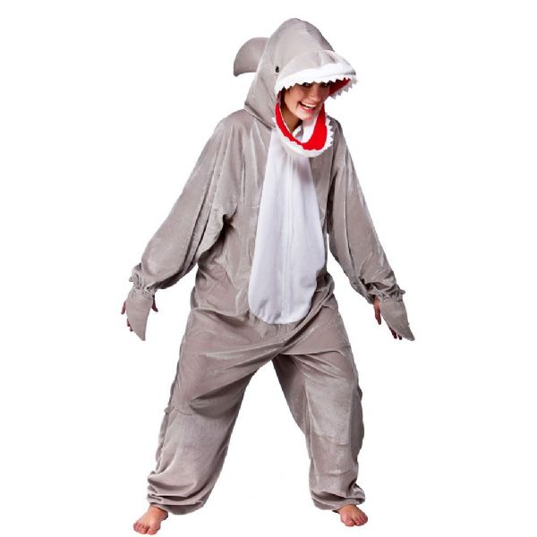 Adult Snappy Shark Costume for Animals Bugs Creatures Fancy Dress Mens Ladies
